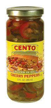 Cento - HOT Sliced Cherry Peppers, (2)- 12 oz. Jars