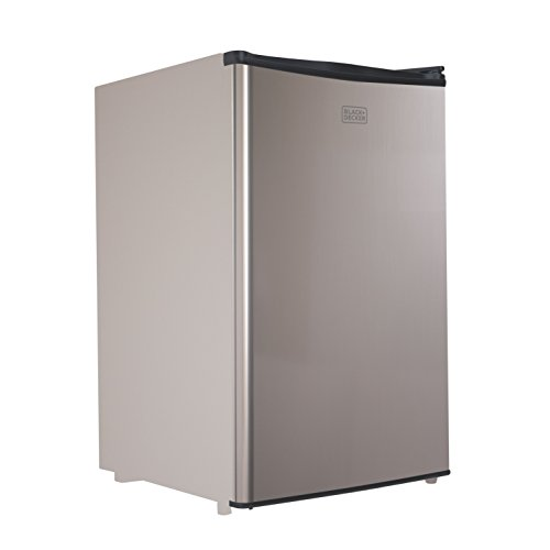 BLACK+DECKER BCRK43V Compact Refrigerator Energy Star Single Door Mini Fridge with Freezer, 4.3 Cubic Ft., VCM (Refrigerator Compact Black)