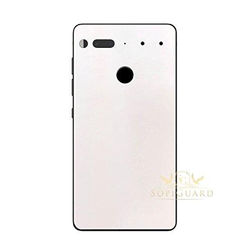 SopiGuard Essential Phone PH1 Carbon Fiber Rear Panel Precision Edge-to-Edge Coverage Easy-to-Apply Vinyl Skins (Matte Pearl (Pearl Rubber Skin)