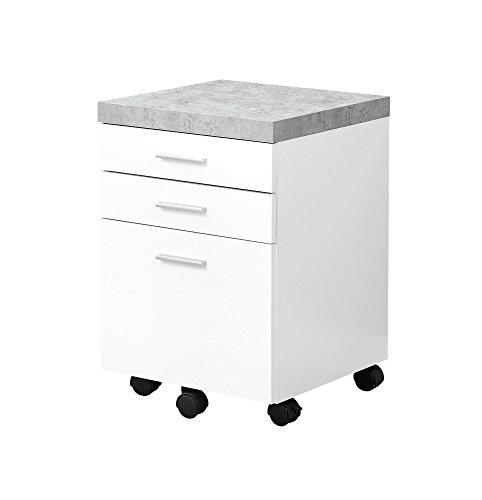 - Monarch Specialties I I 7051 Filing Cabinet, White, 18.25