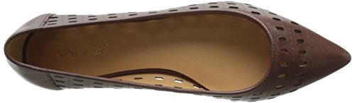 en Brown Nine West Singlelady Cuir Ballet Dark Plat qCAwBvC