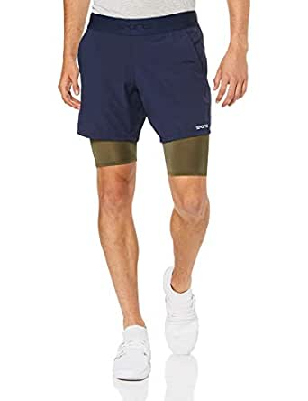 SKINS Men's DNAmic Primary SUPERPOSE 1/2, Navy/Utility, QXS