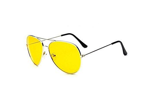 Lunettes UV de 400 Cool soleil Style KGM jaunes Verres aviateur qW7O1vqwZB