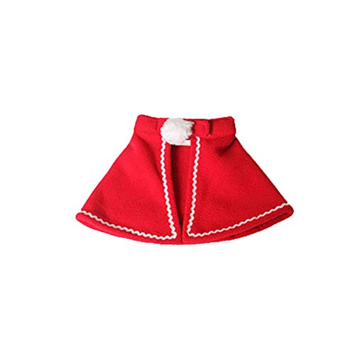 BESTOYARD Dog Cloak Christmas Pet Costumes Red Polar Fleece Pet Cape Cat Halloween Costume Pet Apparel Size S (Red)]()
