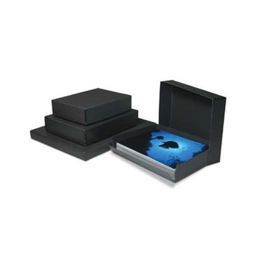 Print File Black Drop-Front Metal Edge Archival Box, 8.5x11x3'' by Print File