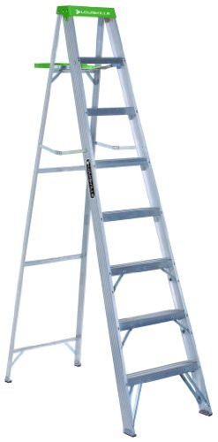 Louisville Ladder AS4008 225-Pound Duty Rating Aluminum Stepladder, 8-Foot by Louisville Ladder