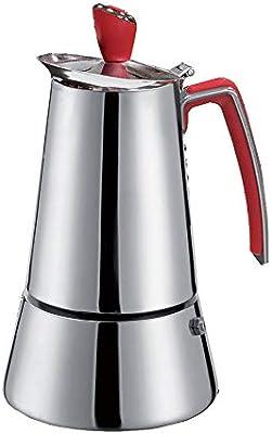 GAT 109104 Futura - Cafetera italiana de inducción (4 tazas, acero ...