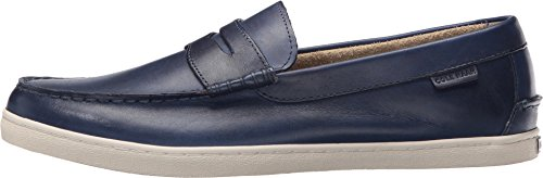 Cole Haan Mens Nypa Weeke Slip-on Loafer Marinblå Handstain