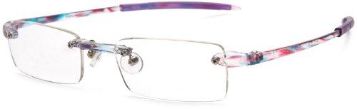 Visualites 201 Reading Glasses,Purple Monet Frame/Clear Lens,1.50 Strength,48 mm