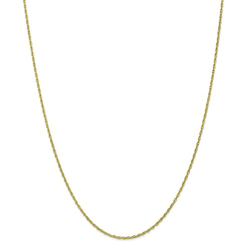 10k Yellow Gold Polished 1.3mm Baby Rope Chain Necklace 20'' by Venture Jewelers