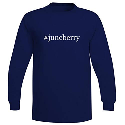 The Town Butler #juneberry - A Soft & Comfortable Hashtag Men's Long Sleeve T-Shirt, Blue, Medium (Bright Starts Juneberry Delight Walk A Bout)