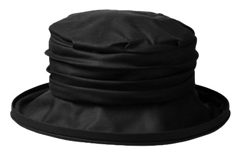 Olney Annabel Antique Waxed Cotton Waterproof Hat (Black) by Olney Headwear