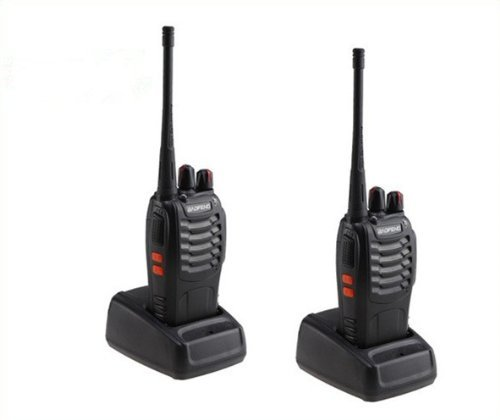 BaoFeng Twin Pack BF-888S UHF FM Transceiver High Illumination Flashlight Walkie Talkie Two-Way Radio