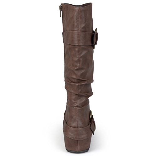 Brinley Co Frauen Hilton-WC Slouch Boot Braunes Patent