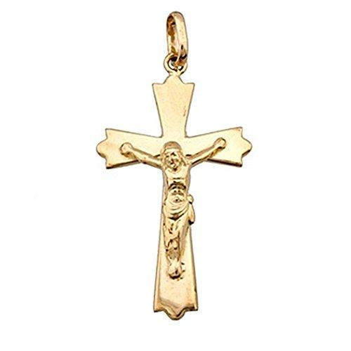 Croix pendentif 18k crucifix d'or sous forme Christ [4901]