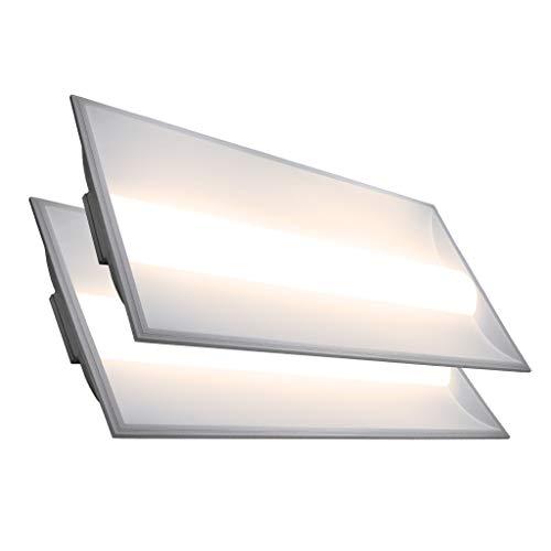- LED 2x4 Center Basket Troffer Panel (2 Pack) 50W; 10 Year Warranty; 6500 Lumens; 120V-277V AC/DC; 0-10V Dimmable; 50,000 Life Hours; CRI>80; UL/DLC Listed (Warm White 3500K)