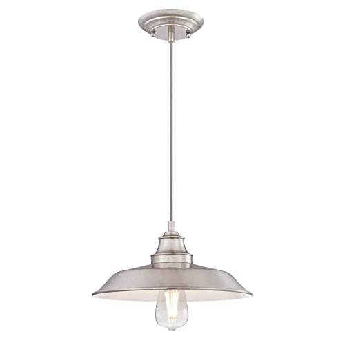 Metal Pack Nickel (Westinghouse  6354200 Iron Hill One-Light Indoor Pendant, Brushed Nickel Finish with Metal Shade)
