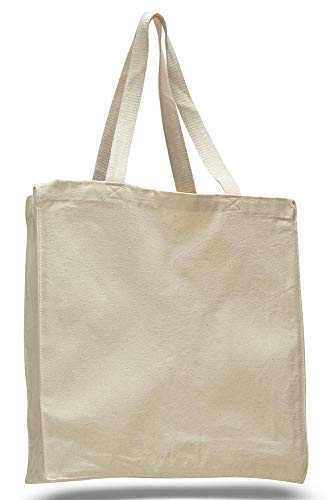 Shop4Bag Heavy Duty Canvas Tote Bags Reusable Plain, Great for Groceries Picnics Gym Trips Environmentally Friendly & Easy for Heat Imprint Embroidery Screen printing from shop4bag