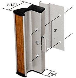 CRL Aluminum Cl&-Style Surface Mount Sliding Glass Door Handle 3\u0026quot; Screw Holes for