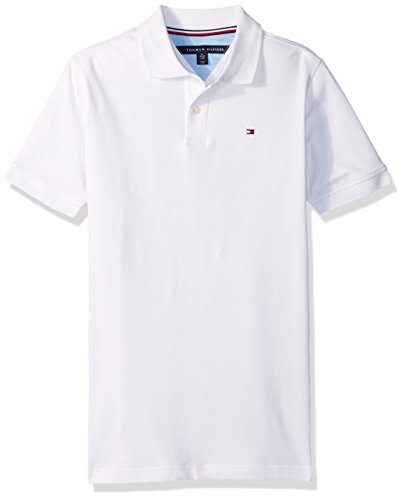 Tommy Hilfiger Little Boys' Stretch Ivy Polo, White, 5