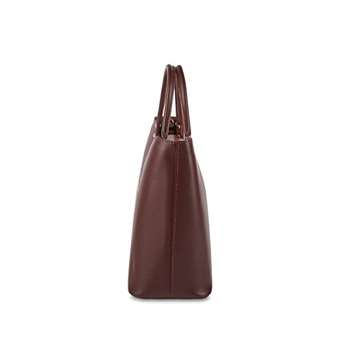 Christian Laurier - Sac à main en cuir modèle Kylie bordeaux - Sac à main haut de gamme fabriqué en Italie