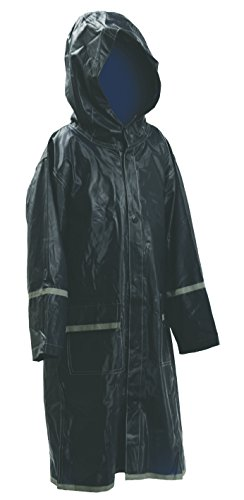 M&S Gifts Kids Water Proof Rain Coat with Reflector - Juniors Premium Rain Jacket - Unisex (Navy XL)