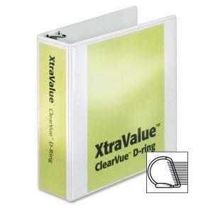 Cardinal XtraValue ClearVue D-Ring Presentation Binder