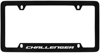 Dodge SRT Black Metal License Plate Frame Holder Bottom Engraved 4 Hole