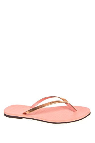 Havaianas Rubber Sole Sandals - Havaianas Women's You Metallic Flip Flops Light Pink Sandal 41/42 Brazil (US Men's 9/10, Women's 11/12) M