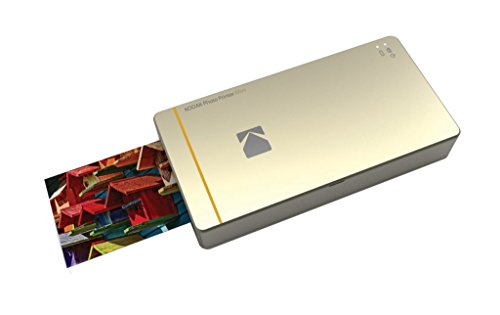 "Kodak Mini Mobile Wi-Fi & NFC 2.1 x 3.4"" Photo Printer with Advanced Patent Dye Sublimation Printing Technology & Photo Preservation Overcoat Layer (Gold) Compatible with Android & iOS"
