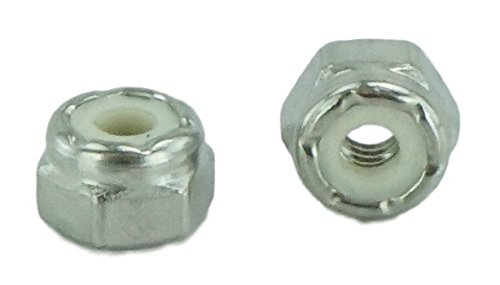 Machine Thread Stainless Steel 18-8 Stainless 8-32 Nylock Hex Nut 100 pcs, 8-32 Nylock Nut