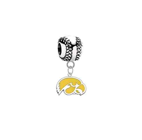 Iowa Hawkeyes Style 2 Baseball 3D Universal European Bracelet Charm