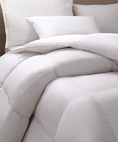 Allied Essentials 100% Cotton Premium Luxe White Goose Down Comforter, White, King/California -