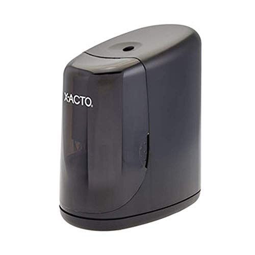 X-ACTO 1730LMR Vortex Electrical Pencil Sharpener, Black, Convenient One-hand Use, SafeStart Prevents Cutters from Operating When Receptable is Removed ()