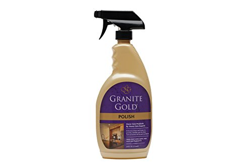 Granite Gold Polish 24 oz. granite polish, marble polish, quartz polish, travertine polish, natural stone (Gold Granite)