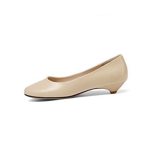 Leather apricot APL11133 Travel Shoes BalaMasa Leather Smooth Pumps Womens Solid vZwASUqT