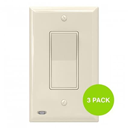 3 Pack Snappower Switchlight Light Switch Cover Plate With Built