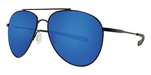Costa Del Mar Cook 580P Cook, Satin Black Blue Mirror, Blue Mirror (Costa Aviators)