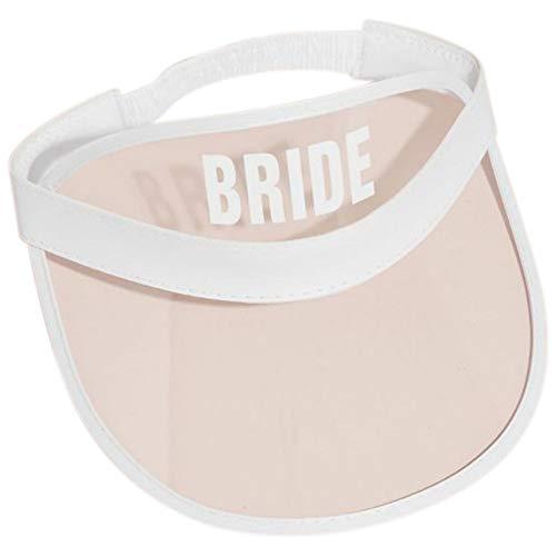 Bride Clear Novelty Visor Style EN119BDE, White