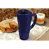 20 oz. Microwavable Ceramic Travel Mug Cobalt Blue