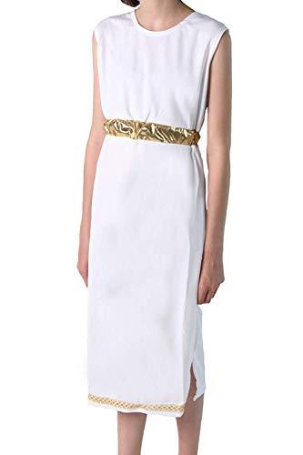 Making Believe Girls Basic White Tank Style Cleopatra Goddess Sheath Dress (Choose Size) (8/10, White)
