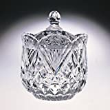 CRYSTAL PINEAPPLE COVERED CANDY DISH - crystal candy dish