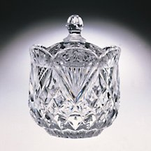 CRYSTAL PINEAPPLE COVERED CANDY DISH - crystal candy dish Godinger Silver Art 63873