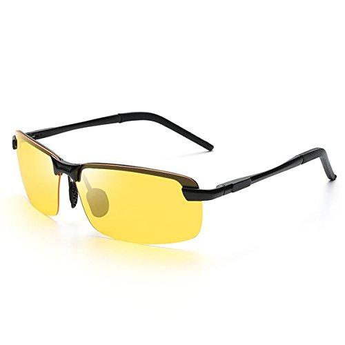los Gafas Frame y de Sol Gafas luz magnesio Deportes Conductor polarizada Gafas de conducción Green Tablets Yellow Macho de de KOMNY Film Black 8043 Espejo Hombres de Sol Aluminio ZpqIwAR