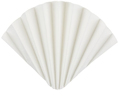 GE Whatman 10313947 Prepleated Cellulose Qualitative Filter Paper for Determination of Malt and Wort in Beer, Grade 2555 1/2, Folded, 12µm Pore Size, 185mm Diameter (Pack of 100) by Whatman (Image #1)'