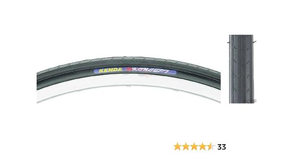 2 Pack Kenda K191 700x23C Koncept Steel Bead Tire /& 700x23-25c Tube Schrader
