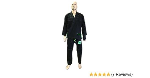 Woldorf USA BJJ uniform Pearl Weave Jiu Jitsu Kimono in Black//Green