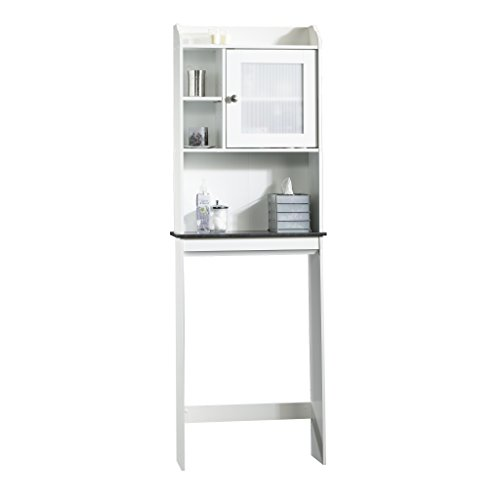 Sauder Caraway Etagere Bath Cabinet, Soft White Finish (Bathroom Over Toilet White Space Saver)