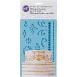 Bulk Buy: Wilton (3-Pack) Fondant & Gum Paste Silicone Mold 5in.x7.75in. Damask W92529