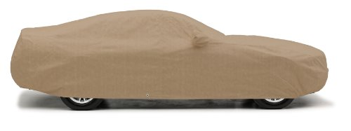 Covercraft Custom Fit Car Cover for Ford Mustang (380 Deluxe Fabric, Taupe)